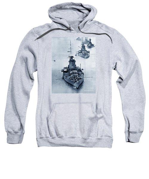 Hms Nelson And Hms Rodney Battleships And Battlecruisers Hms Hood Circa 1941 Sweatshirt