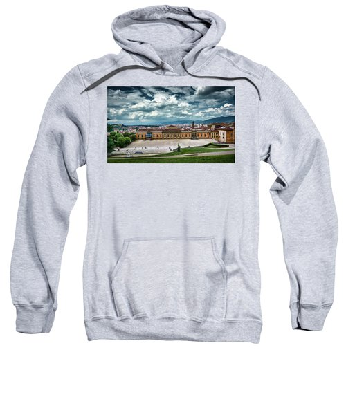 The Meridian Palace And Cityscape In Florence, Italy Sweatshirt