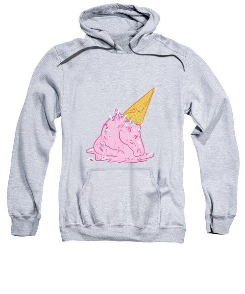 Unicorn Melts Sweatshirt by Evgenia Chuvardina