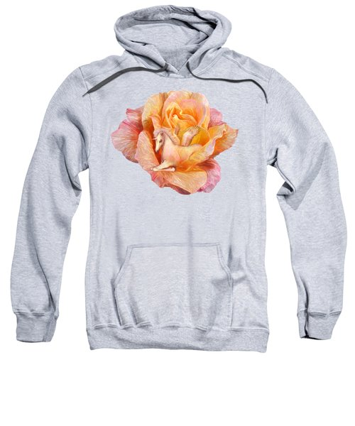 Unicorn Rose Sweatshirt by Carol Cavalaris
