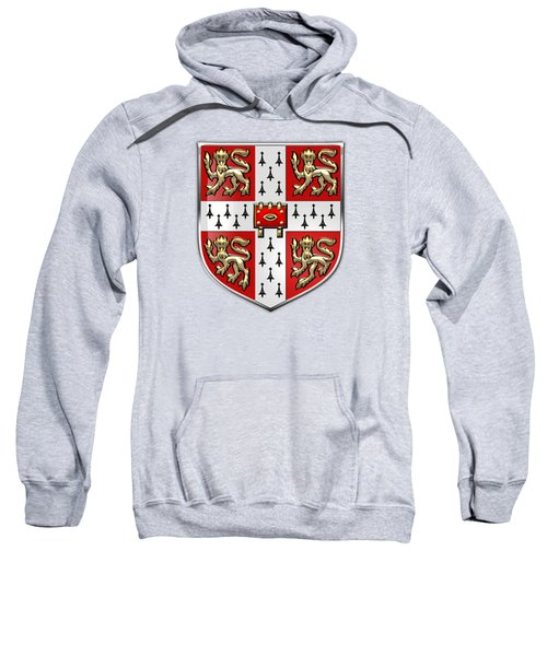 University Of Cambridge Seal - Coat Of Arms Over Colours Sweatshirt by Serge Averbukh