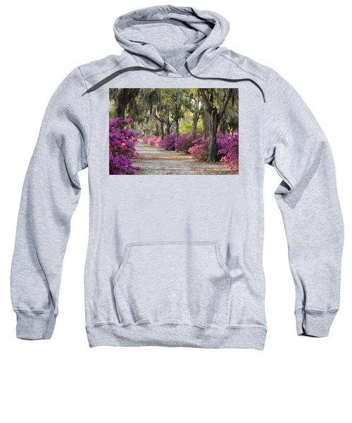 Unpaved Road With Azaleas And Oaks Sweatshirt