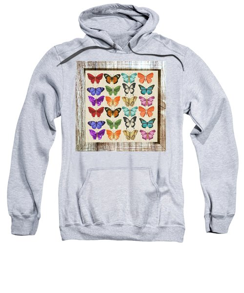 Colourful Butterflies Collage Sweatshirt