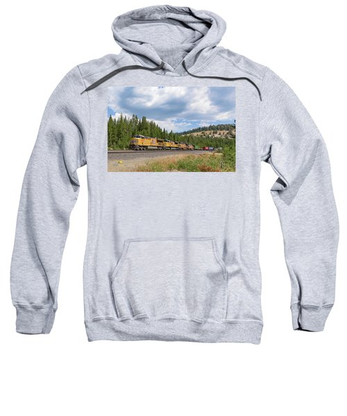 Sweatshirt featuring the photograph Up2650 Westbound From Donner Pass by Jim Thompson
