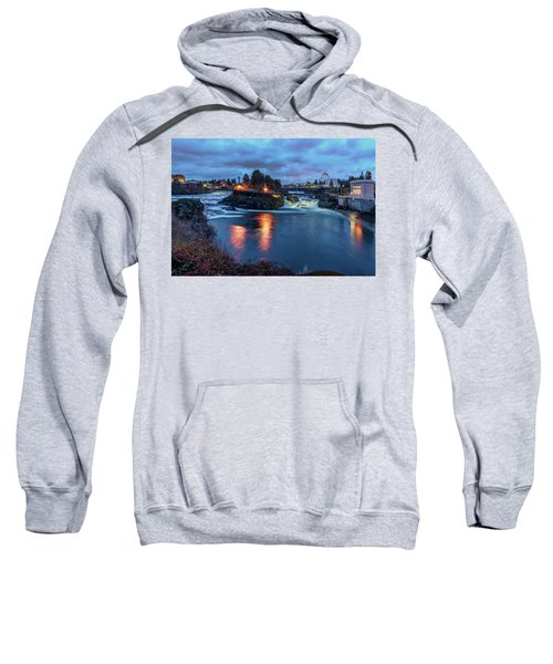 Upper Spokane Falls At Dusk Sweatshirt