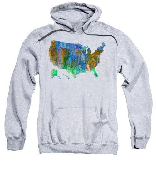 Usa - Colorful Map Sweatshirt