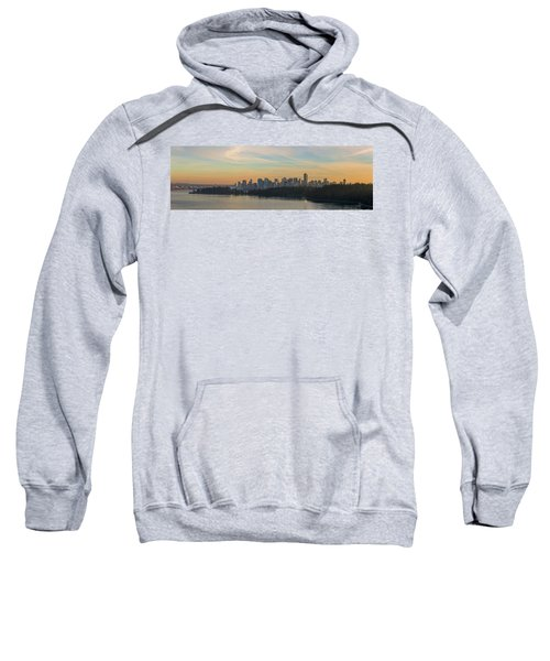 Vancouver Bc Skyline Along Stanley Park At Sunset Sweatshirt