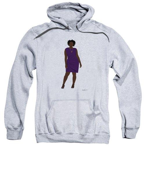 Sweatshirt featuring the digital art Vanessa by Nancy Levan