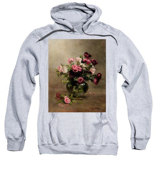 Vase Of Roses Sweatshirt