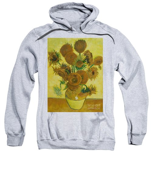 Vase Withfifteen Sunflowers Sweatshirt