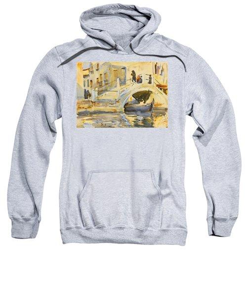 Venice. Bridge With Figures  Sweatshirt