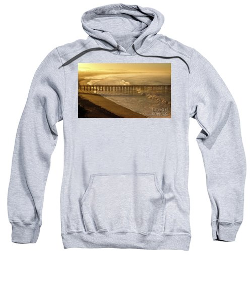 Ventura, Ca Pier At Sunrise Sweatshirt
