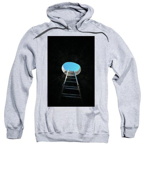 Vertical Step-ladder On Ceiling Window  Sweatshirt