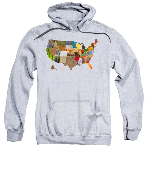 Vibrant Textures Of The United States Sweatshirt