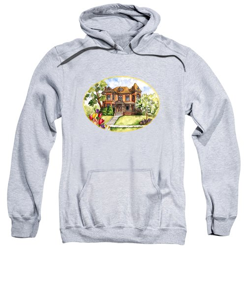 Victorian Mansion In The Spring Sweatshirt by Shelley Wallace Ylst