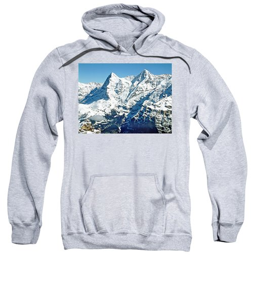View Of The Eiger From The Piz Gloria Sweatshirt