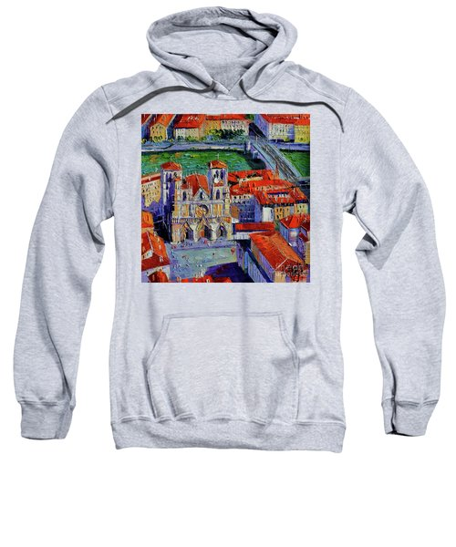 View Over Cathedral Saint Jean Lyon Sweatshirt