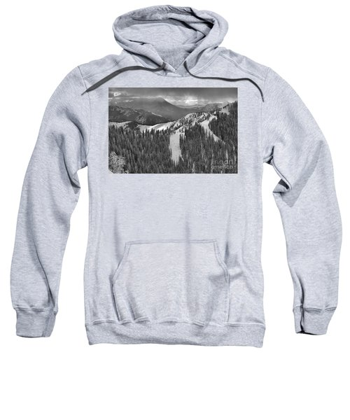 Views From The Western Trail Black And White Sweatshirt