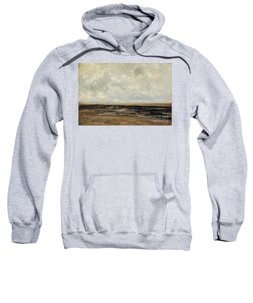 Sweatshirt featuring the painting Villerville Beach In Normandy by Celestial Images