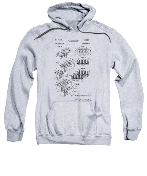 Vintage 1961 Toy Building Brick Patent Art Sweatshirt