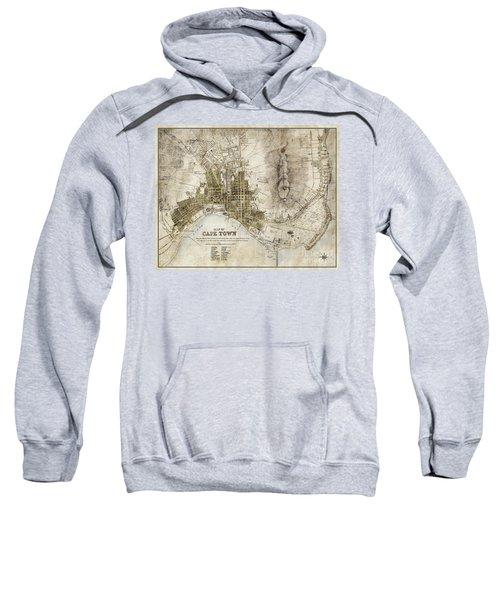 Vintage Antique Cape Town South Africa City Map Sweatshirt