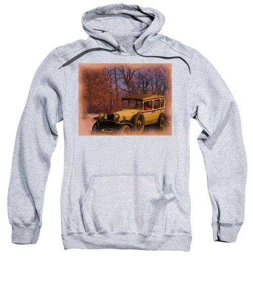 Vintage Auto In Winter Sweatshirt