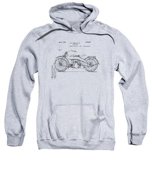Vintage Harley-davidson Motorcycle 1924 Patent Artwork Sweatshirt by Nikki Smith