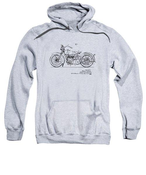 Vintage Harley-davidson Motorcycle 1928 Patent Artwork Sweatshirt