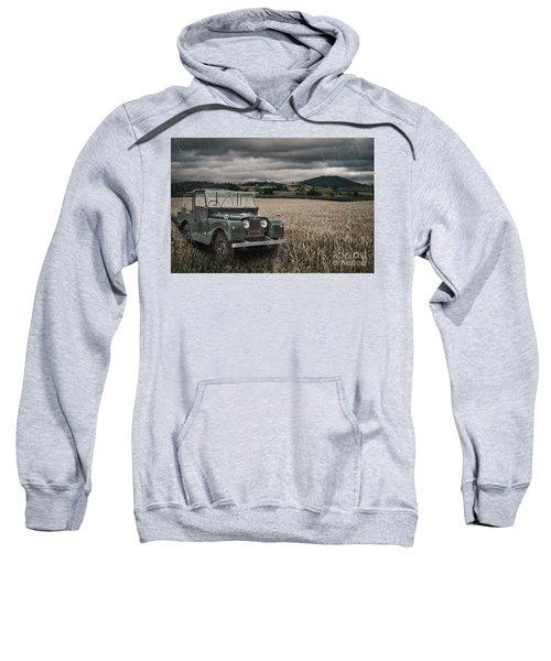 Vintage Land Rover In Field Sweatshirt