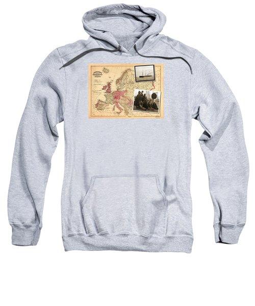 Vintage Map Europe To New York Sweatshirt