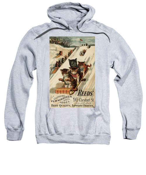 Vintage Poster With Cats Sweatshirt