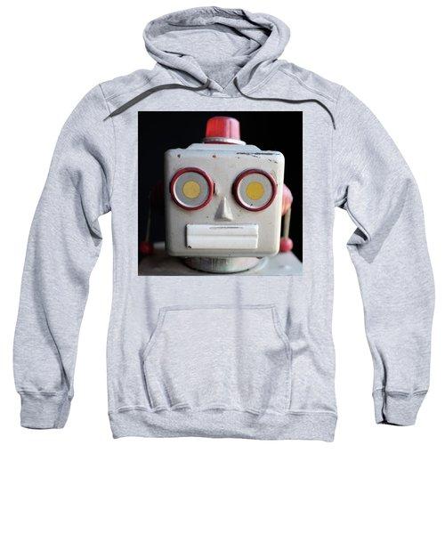 Vintage Robot Square Sweatshirt