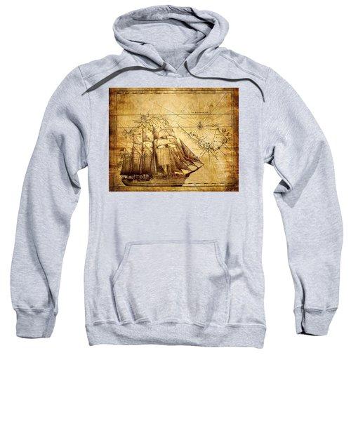 Vintage Ship Map Sweatshirt
