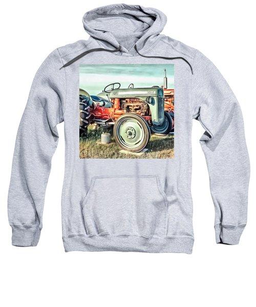 Vintage Tractors Pei Square Sweatshirt
