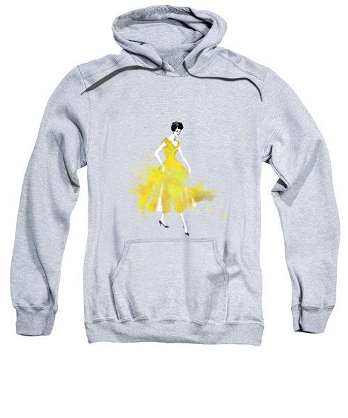 Vintage Yellow Dress Sweatshirt
