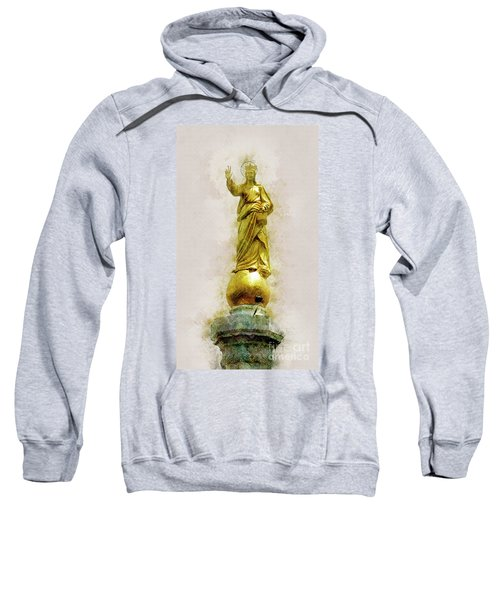 Virgin Mary Statue Messina, Sicily Sweatshirt