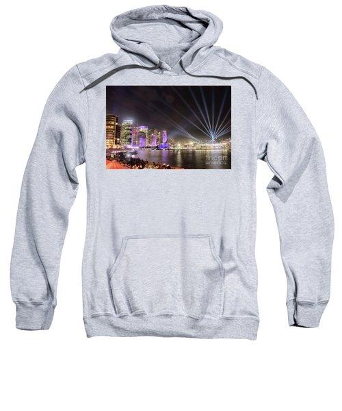 Vivid Sydney Skyline By Kaye Menner Sweatshirt