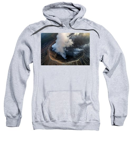 Volcanic Crater From Above Sweatshirt