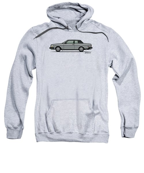 Volvo 262c Bertone Brick Coupe 200 Series Silver Sweatshirt by Monkey Crisis On Mars
