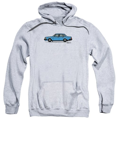 Volvo Brick 244 240 Sedan Brick Blue Sweatshirt by Monkey Crisis On Mars