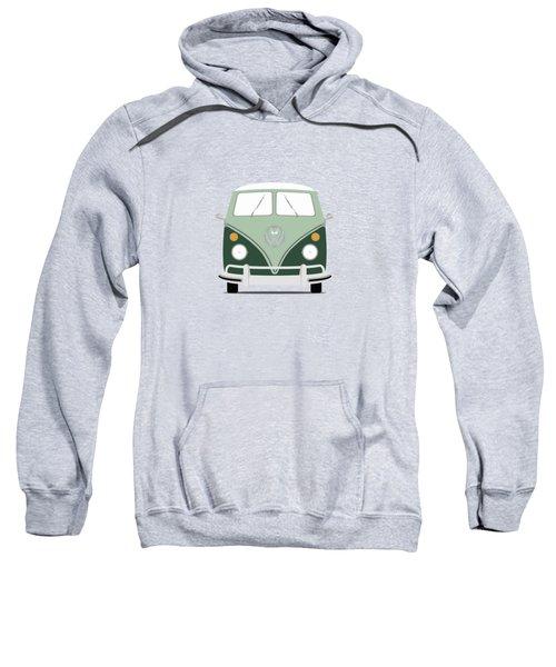 Vw Bus Green Sweatshirt by Mark Rogan
