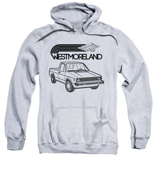 Vw Rabbit Pickup - Westmoreland Theme - Black Sweatshirt