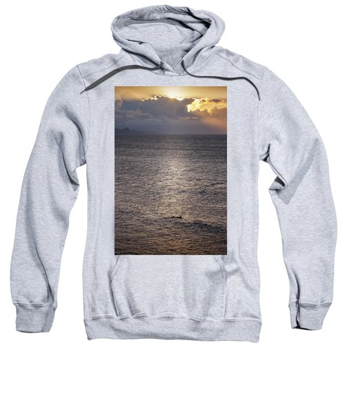 Waiting For The Last Wave Of The Day Sweatshirt