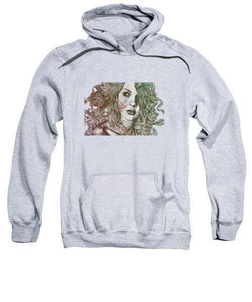 Wake - Autumn - Street Art Woman With Maple Leaves Tattoo Sweatshirt