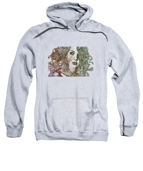 Wake - Autumn - Street Art Woman With Maple Leaves Tattoo Sweatshirt