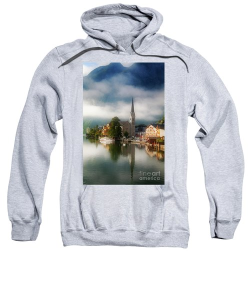 Sweatshirt featuring the photograph Waking Up In Hallstatt by Scott Kemper
