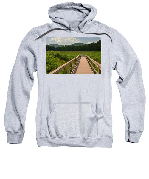 Walkway To A Mountain Color Sweatshirt
