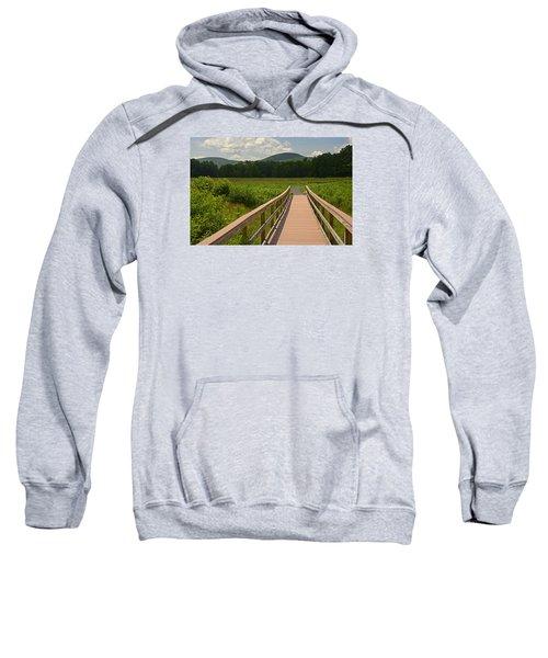 Walkway To A Mountain Color Sweatshirt