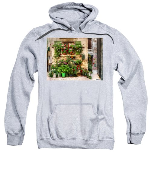 Wall Of Flowers Sweatshirt