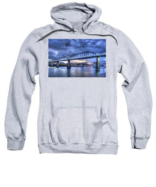Walnut Street Pedestrian Bridge Sunset Chattanooga Tennessee Art Sweatshirt
